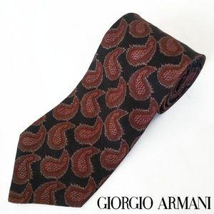 VTG Giorgio Armani Paisley Linen Tie Italy